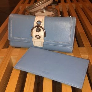 Coach wallet and checkbook set